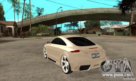 Audi TT Quattro 2007 pour GTA San Andreas sur la vue arrière gauche