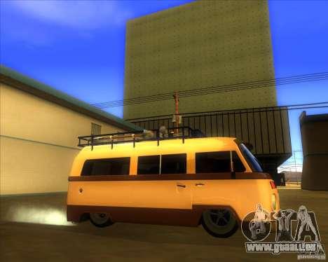 Volkswagen Kombi Classic Retro für GTA San Andreas linke Ansicht