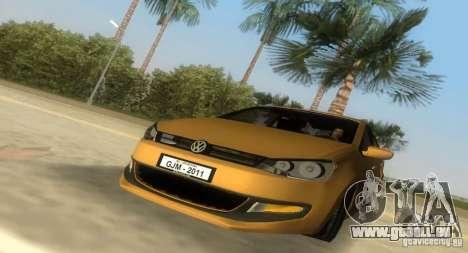 Volkswagen Polo 2011 pour GTA Vice City sur la vue arrière gauche