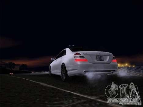 Mercedes-Benz S65 AMG V2.0 pour GTA San Andreas vue de droite