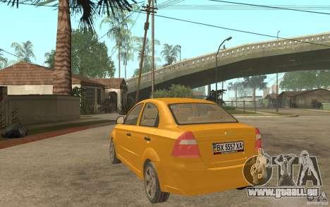 Chevrolet Aveo 2007 final pour GTA San Andreas sur la vue arrière gauche