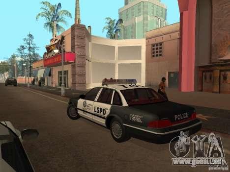 Ford Crown Victoria LSPD für GTA San Andreas zurück linke Ansicht