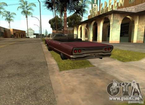 Geparkte Fahrzeuge in der Grove Street für GTA San Andreas her Screenshot