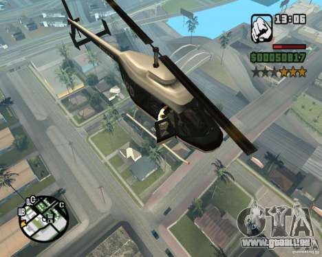 Zaprygivayem hélicoptère pour GTA San Andreas quatrième écran