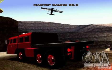 MAZ-7310 schmalen Zivilversion für GTA San Andreas Seitenansicht