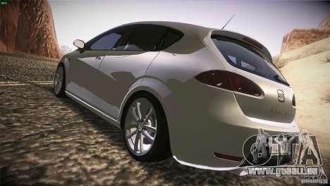 Seat Leon Cupra pour GTA San Andreas vue de droite