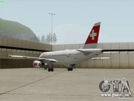 Airbus A319-112 Swiss International Air Lines pour GTA San Andreas vue de côté