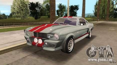 Ford Shelby GT500 für GTA Vice City Rückansicht
