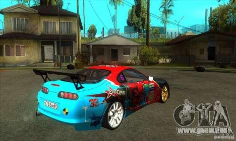 Toyota Supra Evil Empire pour GTA San Andreas vue de droite