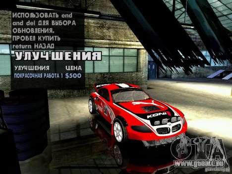 BMW Z4 Rally Cross für GTA San Andreas Innen