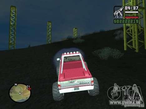 Monster tracks v1.0 pour GTA San Andreas deuxième écran