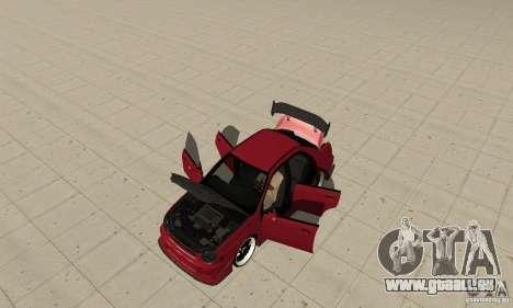 Subaru Impreza pour GTA San Andreas vue arrière