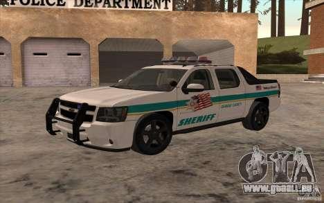 Chevrolet Avalanche Orange County Sheriff für GTA San Andreas