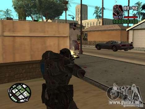 Marcus Fenix de Gears of War 2 pour GTA San Andreas troisième écran