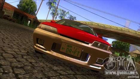 Nissan Skyline R32 pour GTA San Andreas vue intérieure