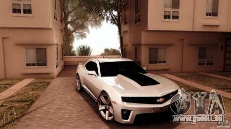 Chevrolet Camaro ZL1 2011 v1.0 pour GTA San Andreas vue arrière