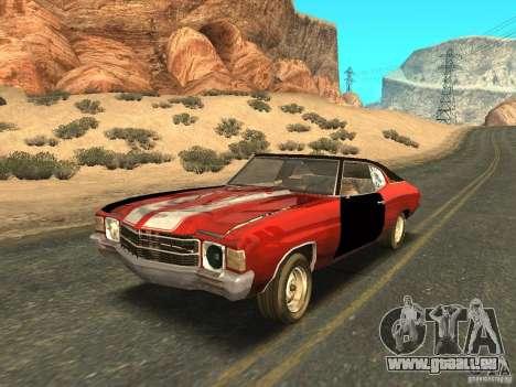 Chevrolet Chevelle Rustelle pour GTA San Andreas vue de dessus