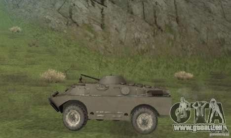 Version hiver BRDM-2 pour GTA San Andreas sur la vue arrière gauche