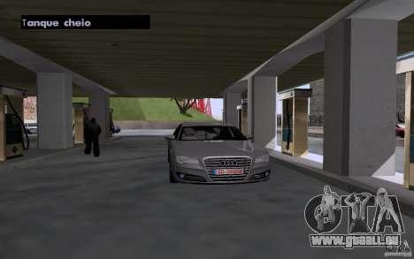 Voiture de citerne à gaz station pour GTA San Andreas troisième écran