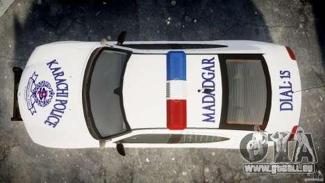 Dodge Charger Karachi City Police Dept Car [ELS] für GTA 4 rechte Ansicht