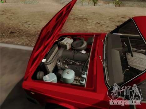 LADA 2105 RIVA (exportation) 2.0 pour GTA San Andreas vue de dessous
