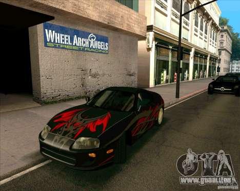 Toyota Supra NFS Most Wanted für GTA San Andreas rechten Ansicht
