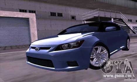 Scion Tc 2012 pour GTA San Andreas sur la vue arrière gauche