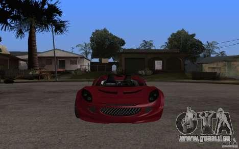 Lotus Elise from NFSMW pour GTA San Andreas laissé vue