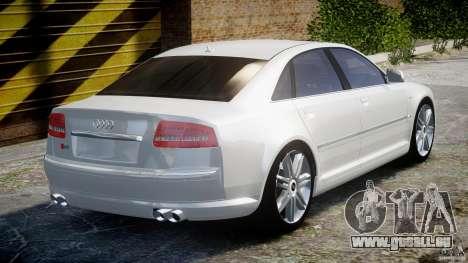 Audi S8 D3 2009 für GTA 4 obere Ansicht