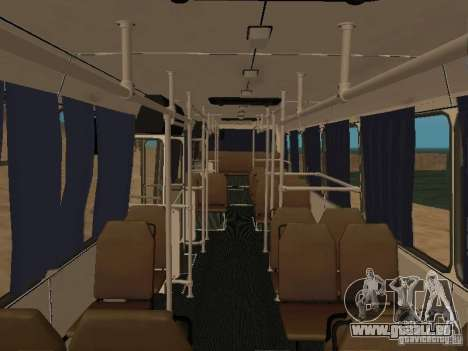 LAZ 52527 pour GTA San Andreas vue intérieure