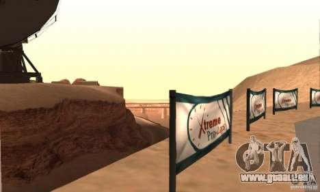 Piste pour la dérive, la grande oreille v1 pour GTA San Andreas quatrième écran