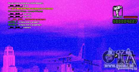 Ordinateur de bord Hydra v1.0a pour GTA San Andreas troisième écran