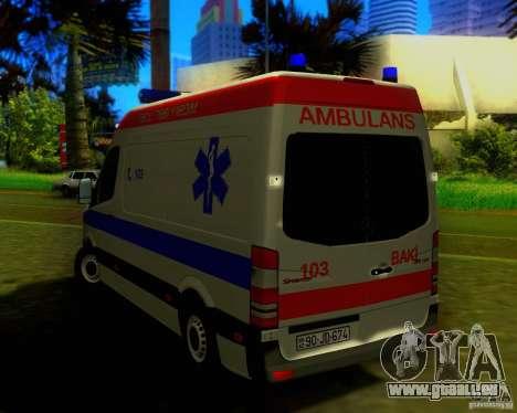 Mercedes-Benz Sprinter Baku Ambulans für GTA San Andreas rechten Ansicht