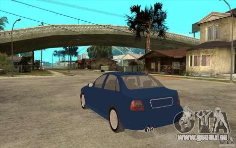Audi A4 für GTA San Andreas zurück linke Ansicht