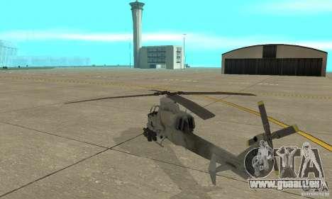 Hunter - AH-1Z Cobra für GTA San Andreas zurück linke Ansicht