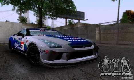 Nissan GTR R35 Tuneable pour GTA San Andreas vue de droite