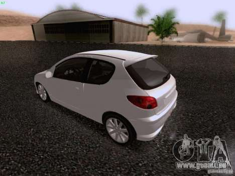 Peugeot 206 für GTA San Andreas Seitenansicht
