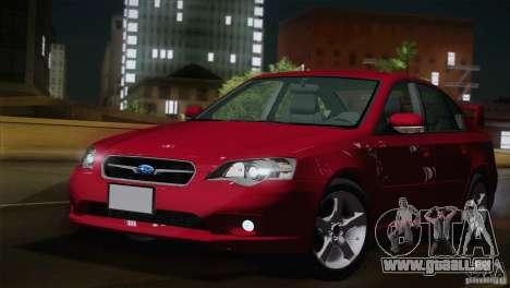 Subaru Legacy 2004 v1.0 pour GTA San Andreas laissé vue