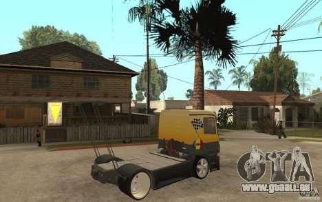 Mercedes Benz Actros Dragster für GTA San Andreas rechten Ansicht