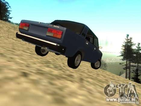 VAZ 2107 v1. 1 für GTA San Andreas zurück linke Ansicht