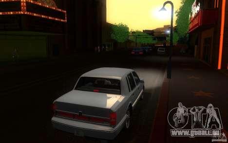 Lincoln Towncar 1991 für GTA San Andreas rechten Ansicht
