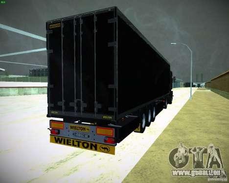 Wielton für GTA San Andreas zurück linke Ansicht