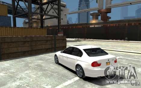 BMW 330i E90 pour GTA 4 Vue arrière de la gauche