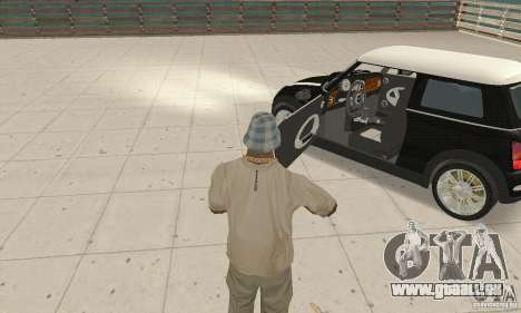 Mini Cooper Hardtop pour GTA San Andreas vue arrière