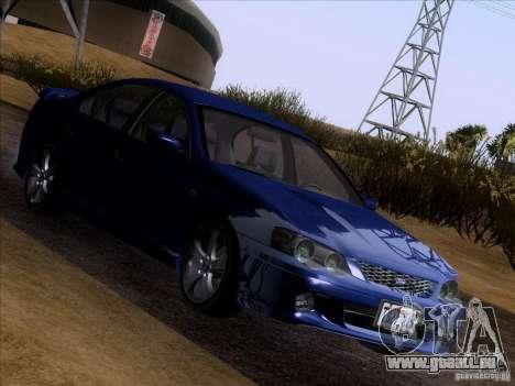 Ford Falcon für GTA San Andreas Rückansicht