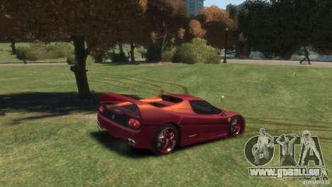 Ferrari F50 pour GTA 4 Vue arrière de la gauche