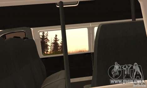 Minibus de Novossibirsk Gazelle 32213 pour GTA San Andreas vue arrière
