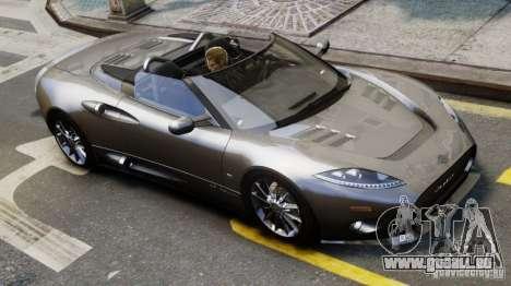 Spyker C8 Aileron Spyder Final pour GTA 4 Vue arrière de la gauche