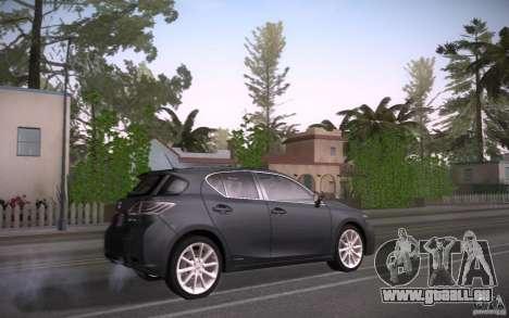 Lexus CT200H 2011 für GTA San Andreas rechten Ansicht