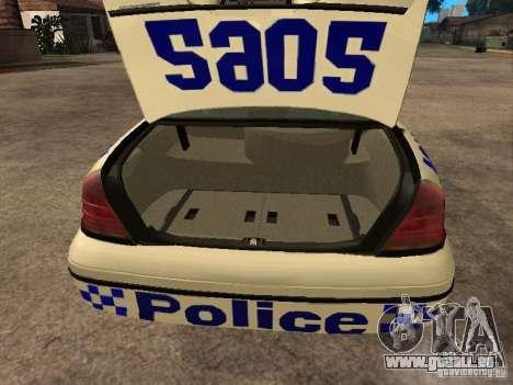 Ford Crown Victoria NSW Police für GTA San Andreas Rückansicht